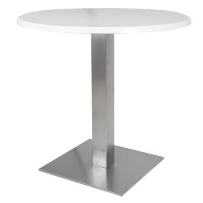 Alquiler de Mesas Dado blanca redonda