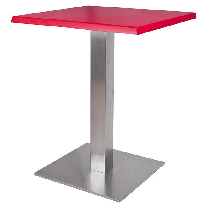 Alquiler de Mesas Dado roja cuadrada