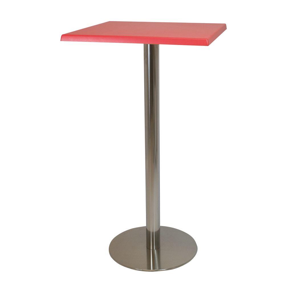 Alquiler de Mesas altas Gites roja cuadrada