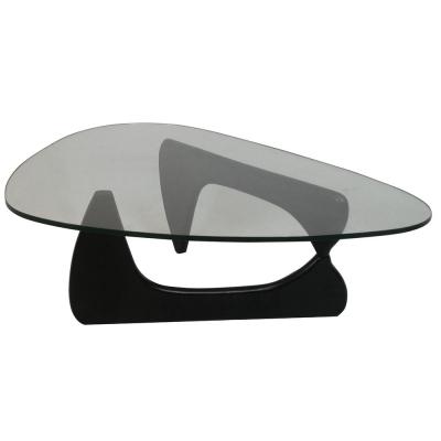 Mesa de cristal Isamu Negro