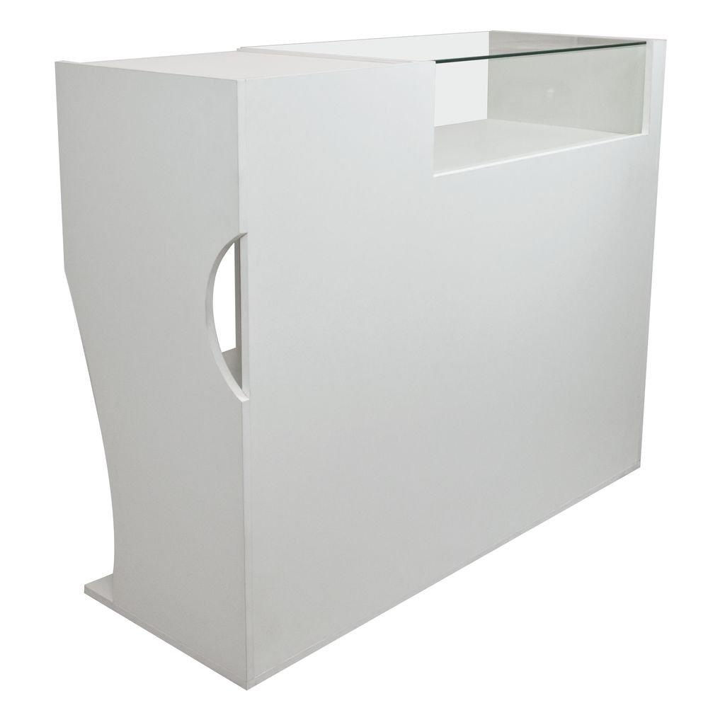 Alquiler de Complementos Mostrador vitrina blanco