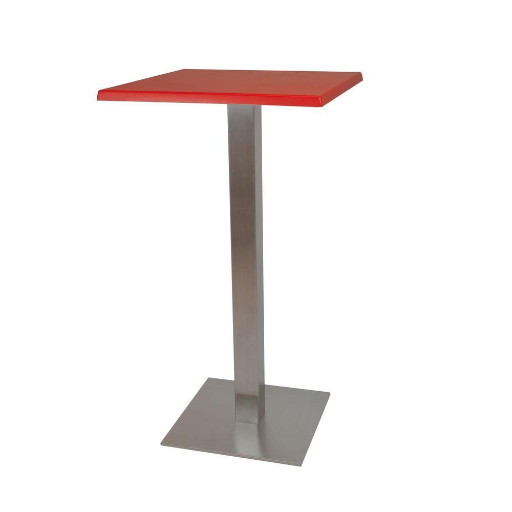 Alquiler de Mesas altas Otis roja cuadrada