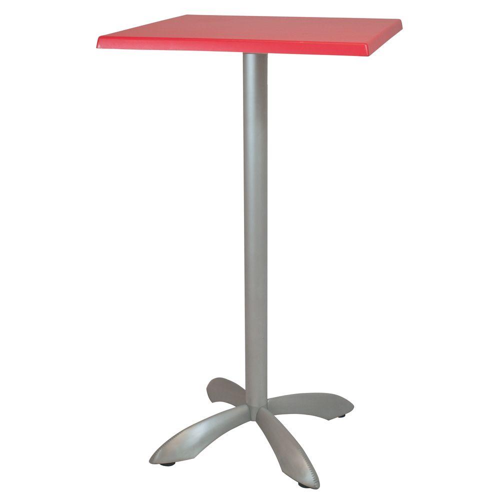 Alquiler de Mesas altas Zoe alta roja cuadrada